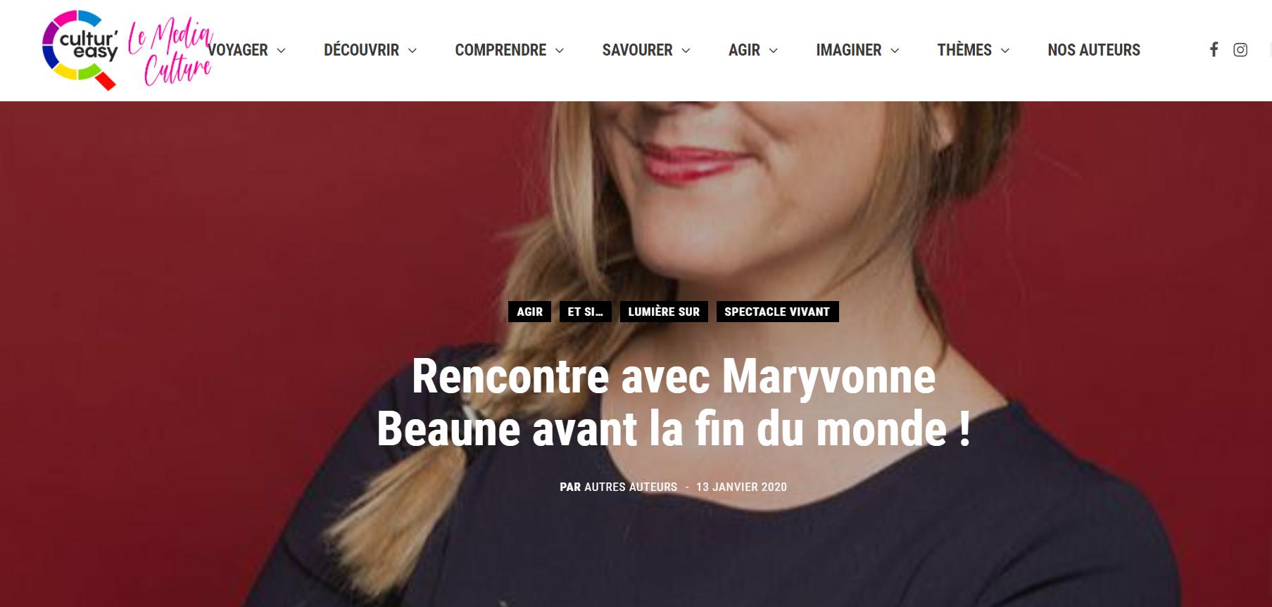 [Cultur'easy] Maryvonne Beaune et la fin du monde