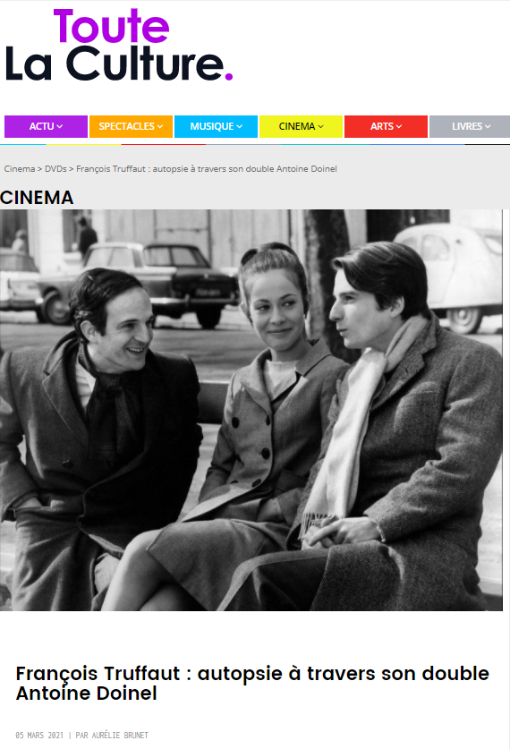 TouteLaCulture : François Truffaut : autopsie à travers son double Antoine Doinel