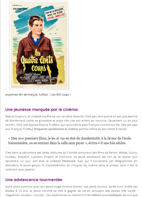 TouteLaCulture : Francois Truffaut a travers son double Antoine Doinel